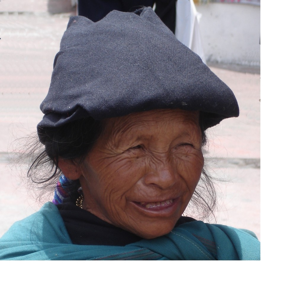 Indianerin aus Ecuador