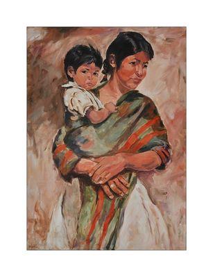 Indianerin mit Kind