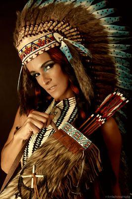Indianerin Portrait