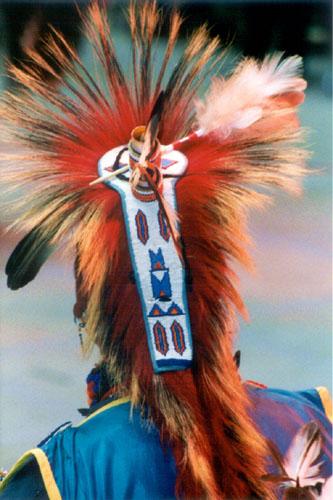 Indianischer Pow Wow Tänzer Haarschmuck