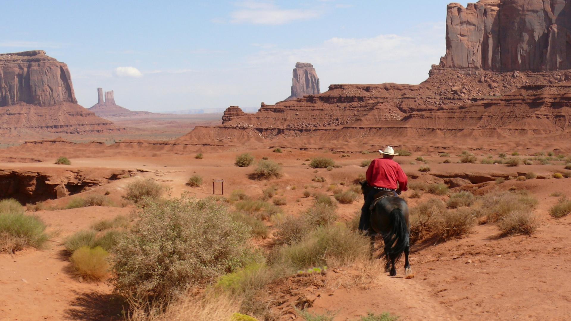 Indien Navajo dans sa réserve.
