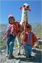 Indigenas am Cañon del Colca, Peru
