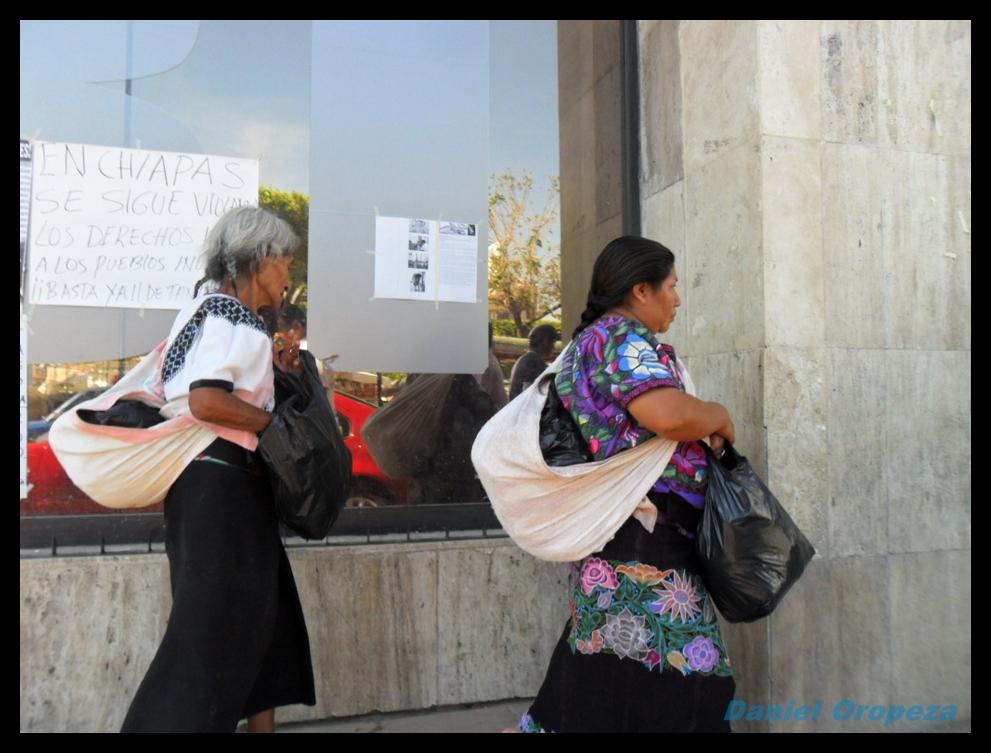 Indigenas Chiapanecas en protesta