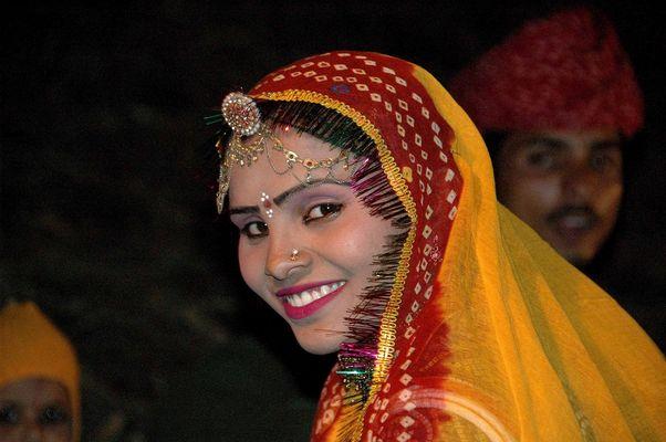 Indische Tänzerin in Rajasthan