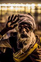 Indischer Pilger auf der Kumbh Mela 2013