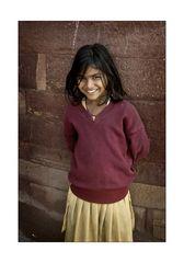 Indisches Mädchen in Fatehpur Sikri