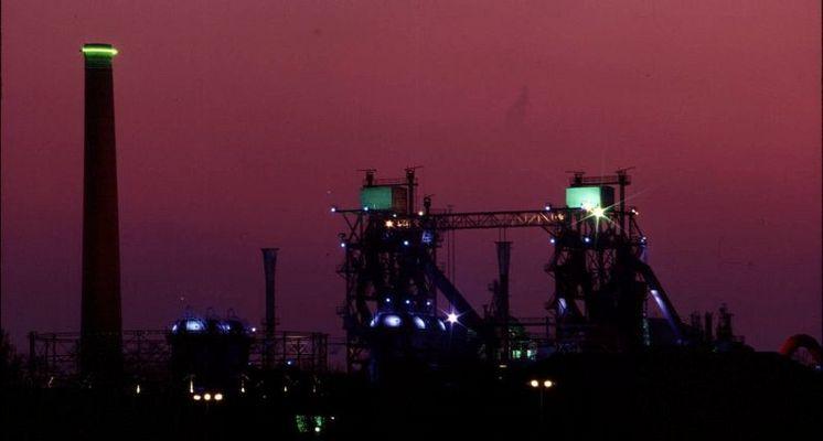Industrie Sonnenuntergang