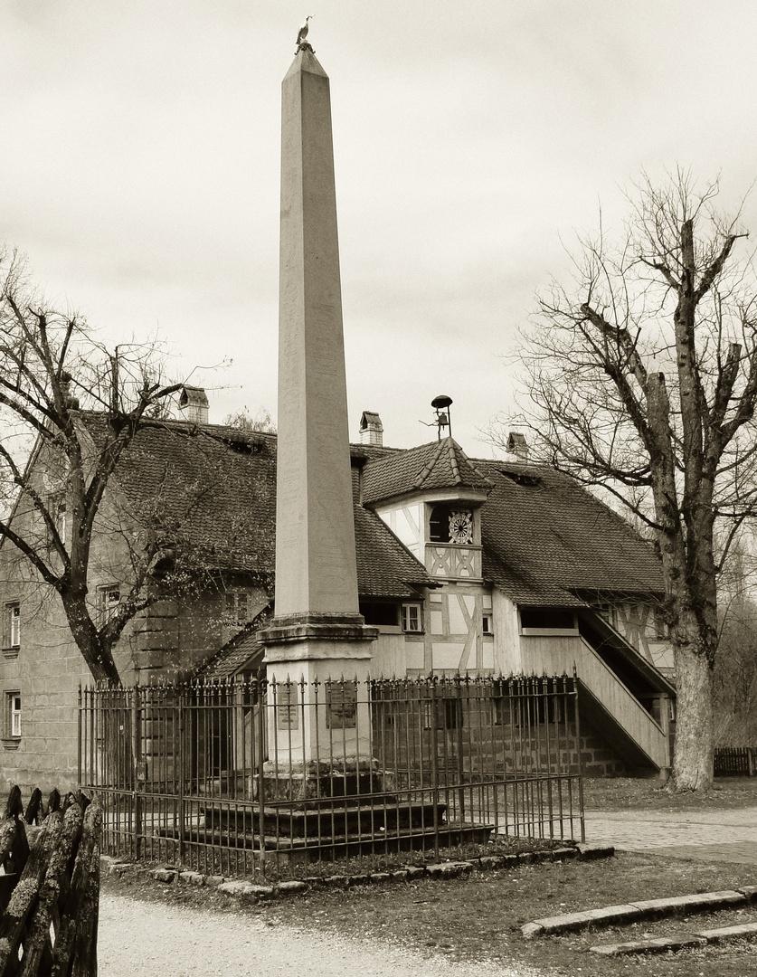 Industriegut Hammer - Uhrenhaus und Volkamer Obelisk