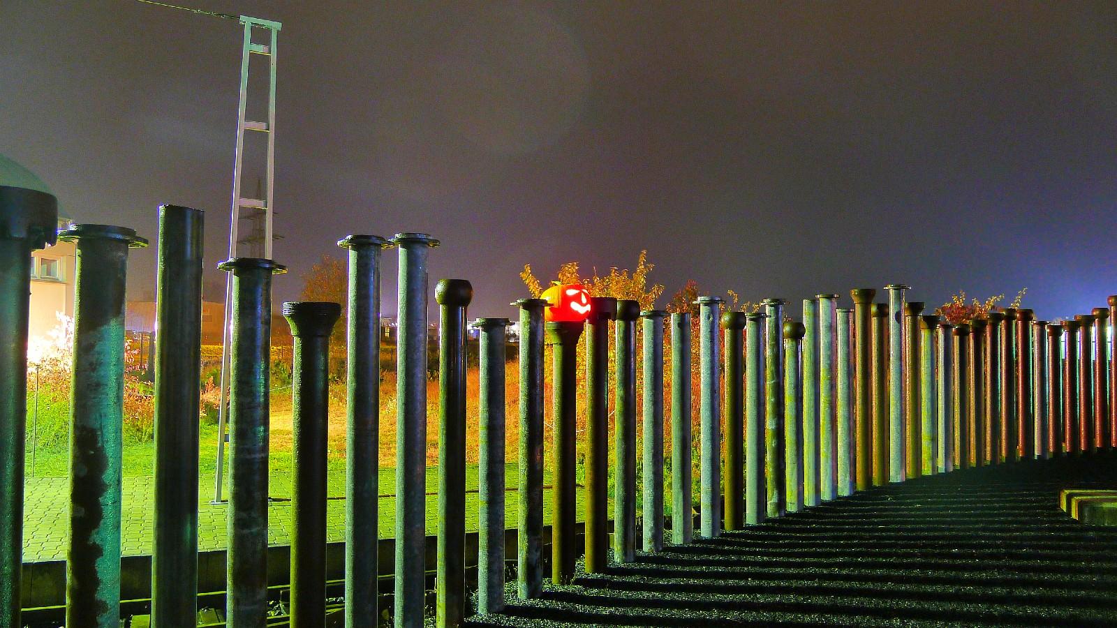 Industriekultur bei Nacht im Museum Borken (Hessen)