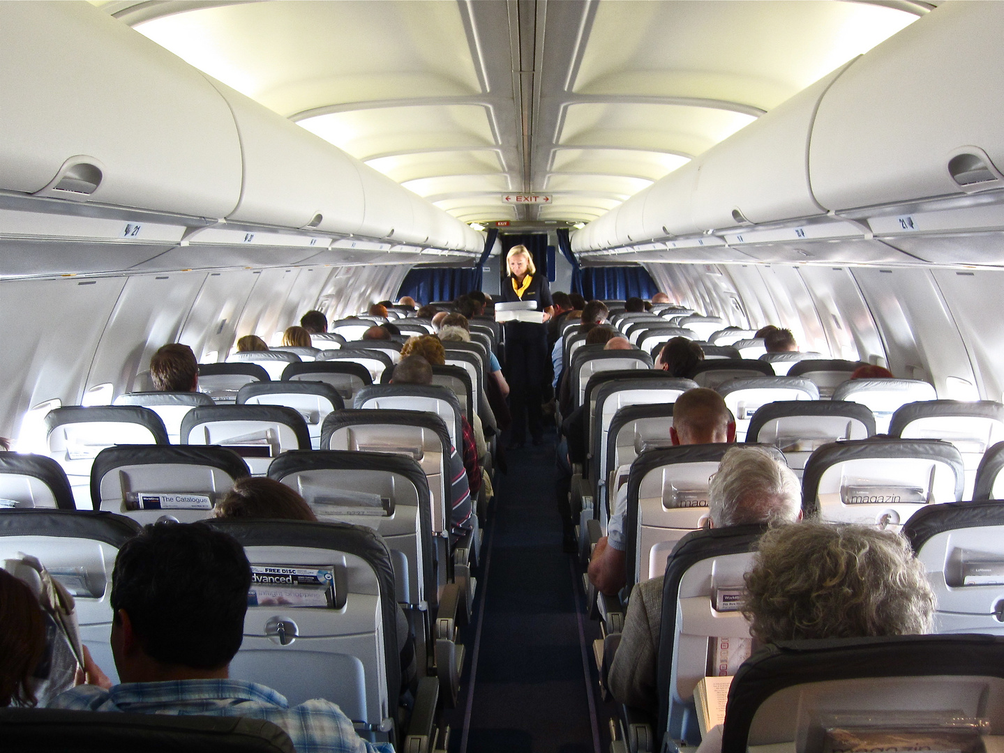 ...inflight Lufthansa...