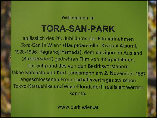Info-Tafel Tora-San-Park