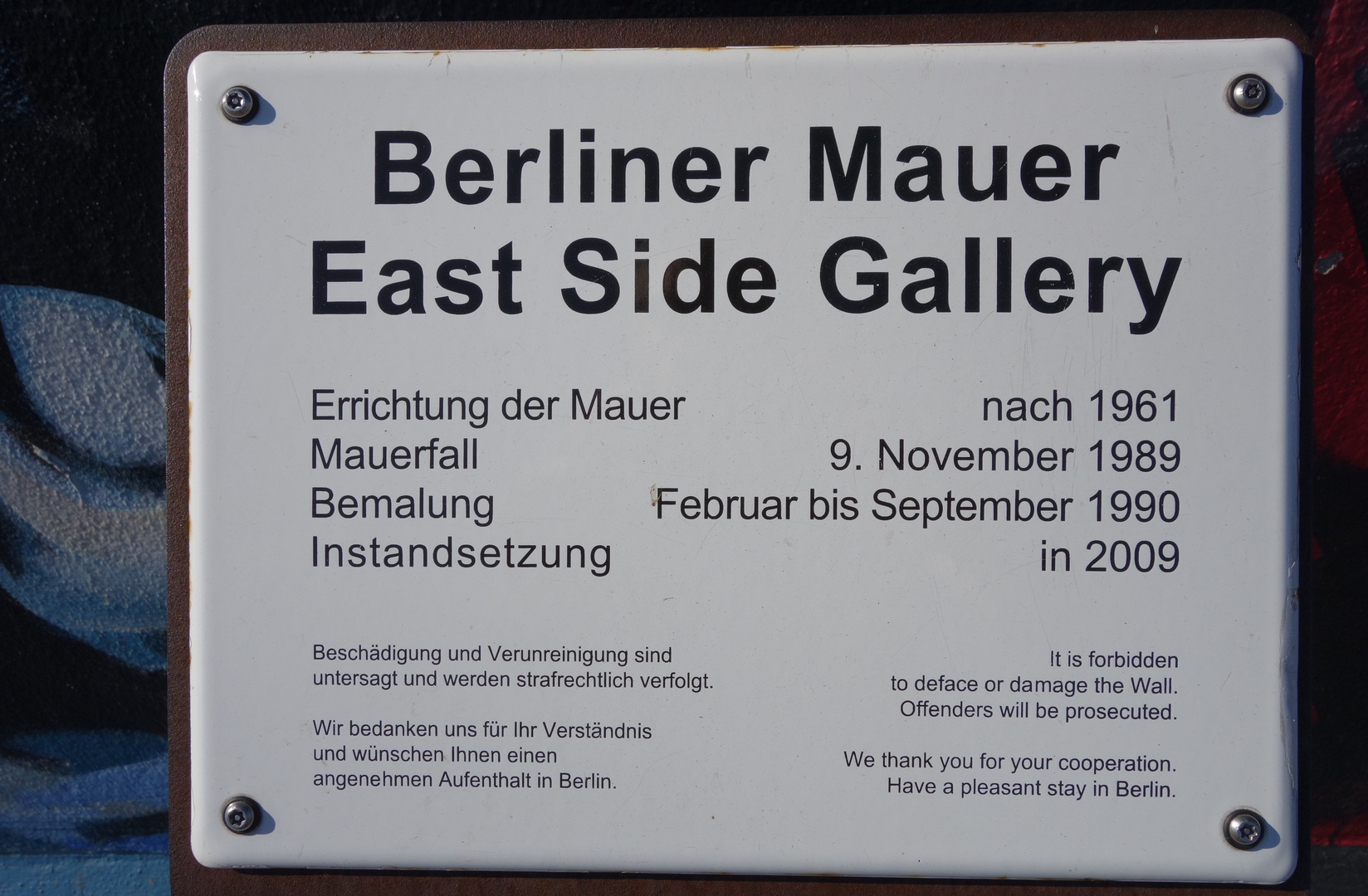 Informationen zur East Side Gallery
