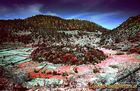 Infrarotbild vom Stavrolongos-Krater auf Methana/GR