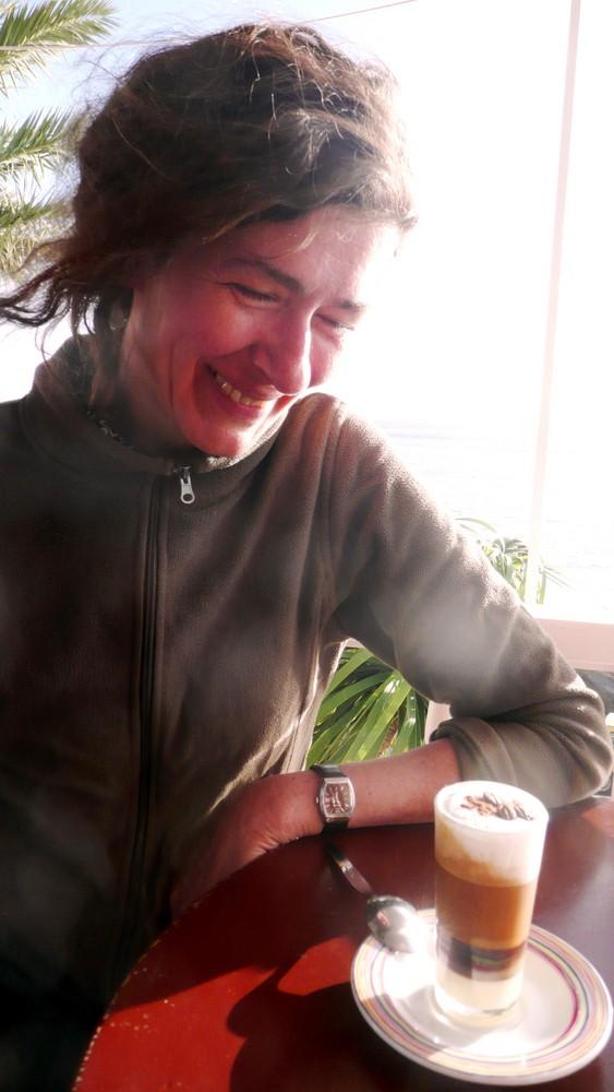 Inga im Arabischen Café Tambara ...