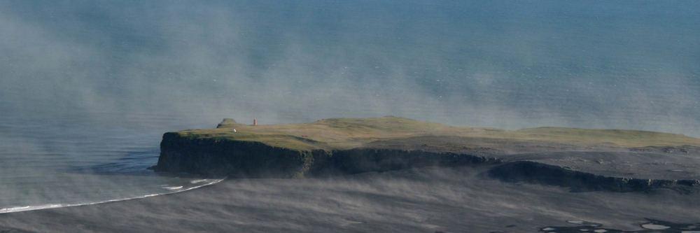 Ingolfshöfdi im Sandsturm