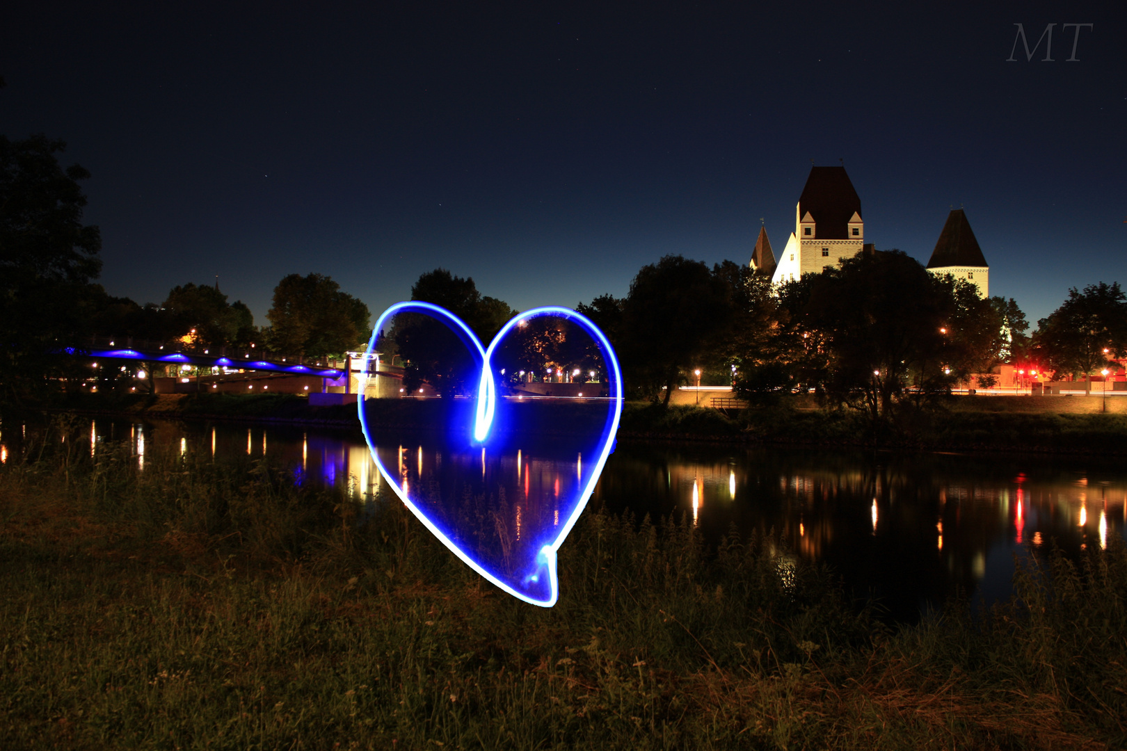 Ingolstädter Schloss bei Nacht