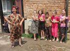 Ingushian family in tschermen / northern ossetia