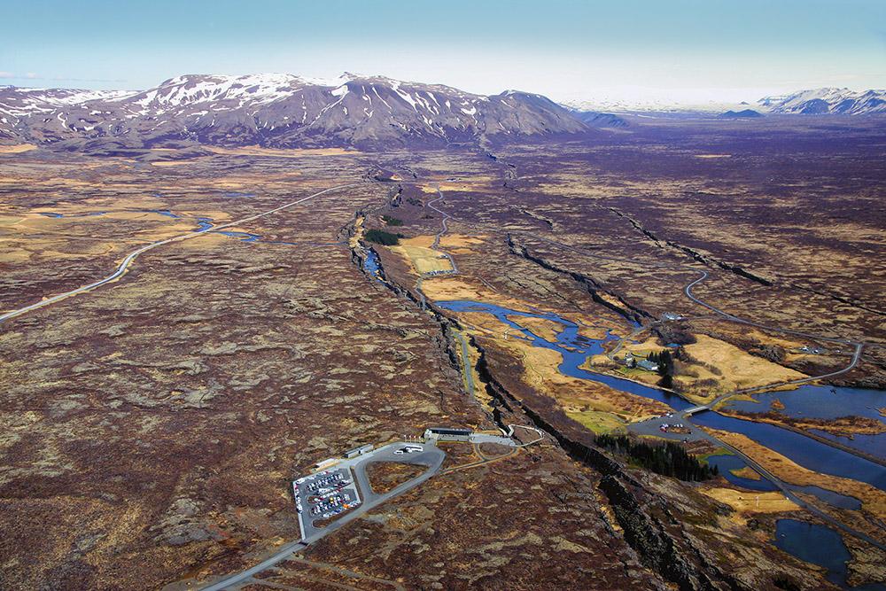 Þingvellir Luftaufnahme