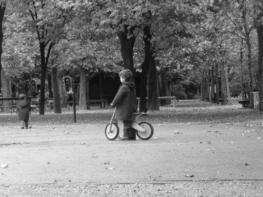 Initiation au cyclisme.