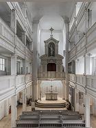 Innenansicht der Jakobskirche in Weimar 1