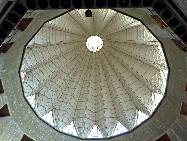 Innenansicht der Kuppel der Verkündigungsbasilika in Nazareth