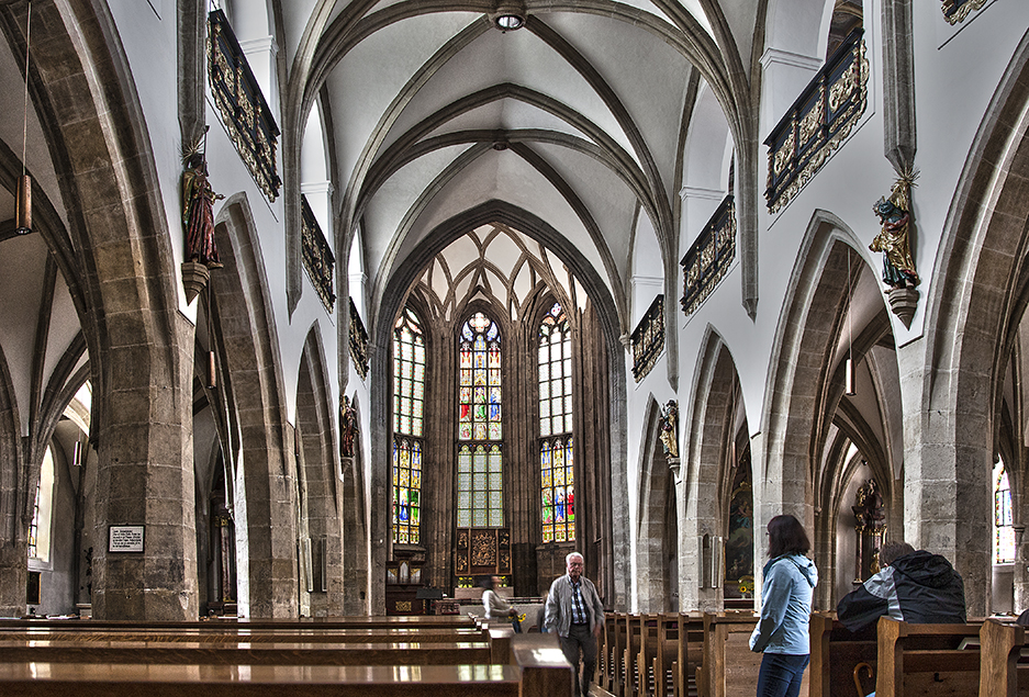 Innenansicht der Stadtpfarrkirche Freistadt.