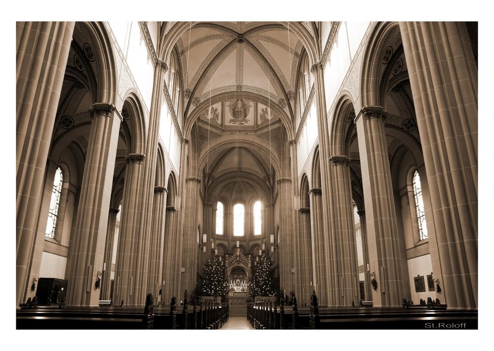 Innenansicht Kirche Neunkirchen / Rheine