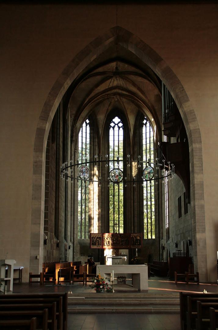 Innenansicht Pfarr- und Klosterkirche St. Andreas