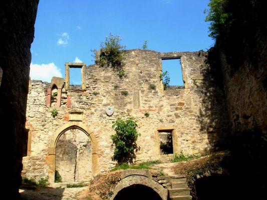 Innenansicht von der Burg Hornberg