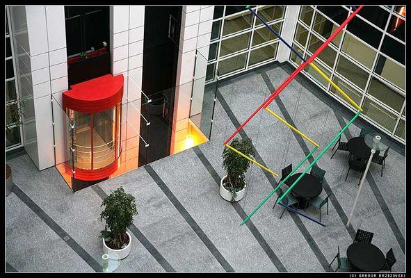 Innenhof Bürogebäude