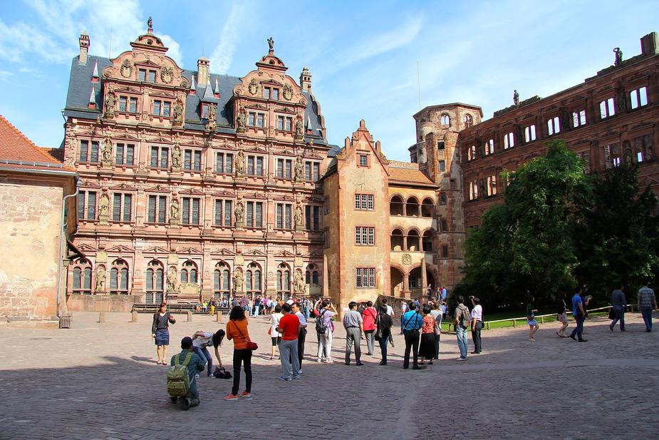 *Innenhof des Heidelberger Schlosses*