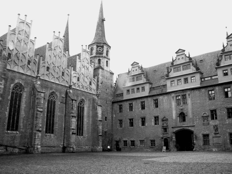 Innenhof des Merseburger Schlosses