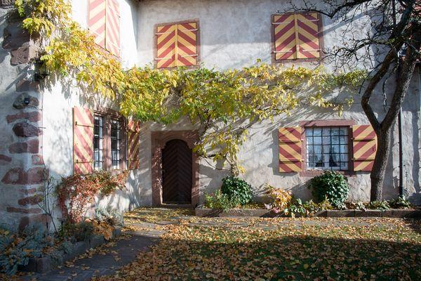 Innenhof Schloss Staufenberg bei Durbach