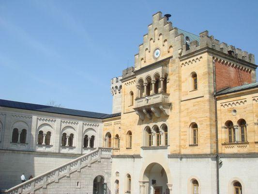 Innenhof von Neuschwanstein