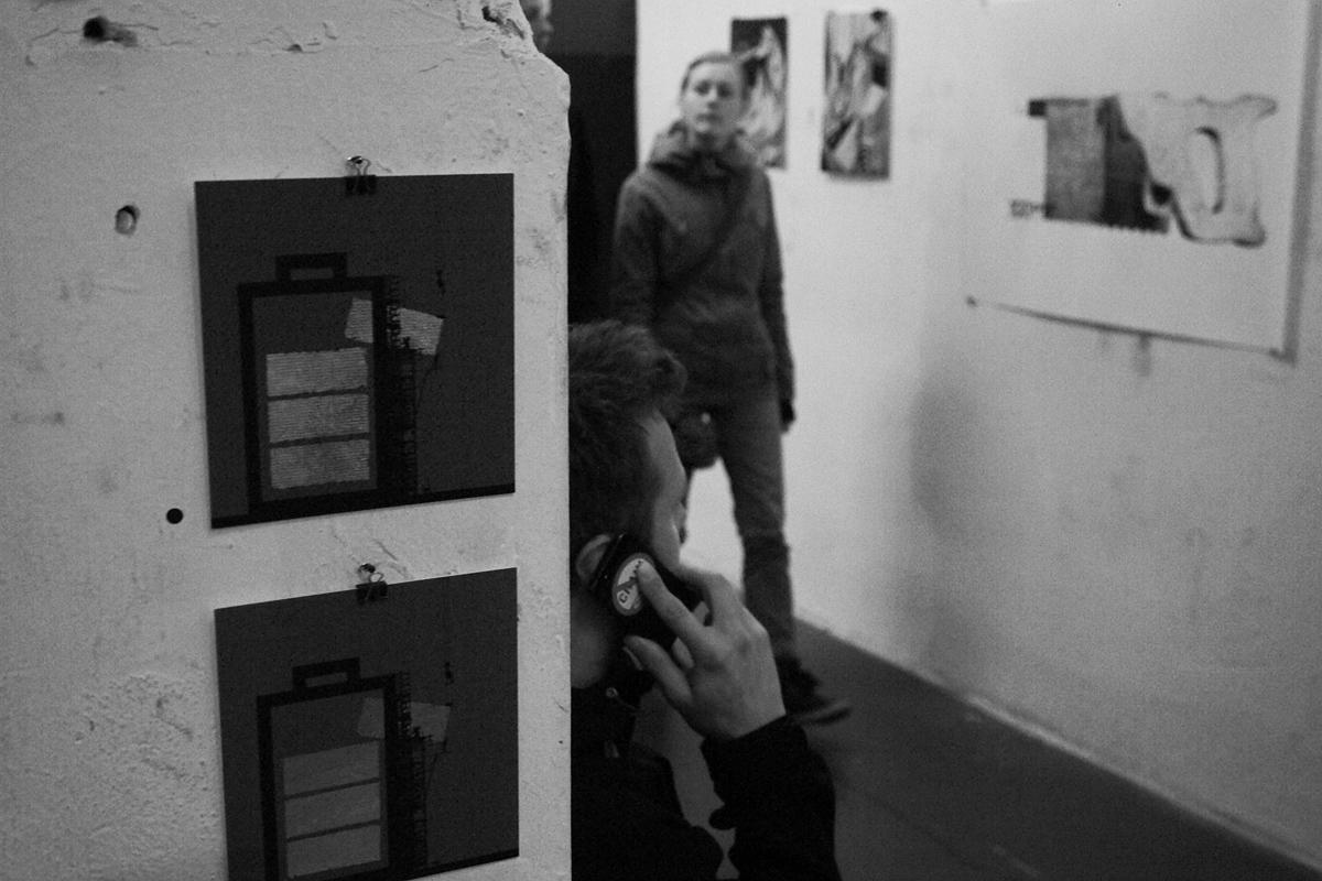 Innenleben einer vorübergehenden Galerie