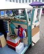 Innenleben eines VW-Wohnwagens oder Wohnen auf Rädern