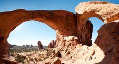 Innenpanorama des Double Arch