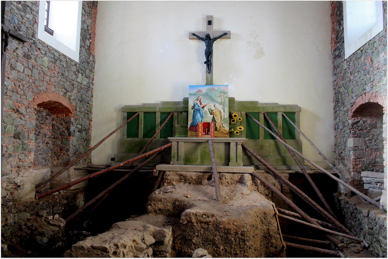 Innenrestauration der Kapelle auf dem Zobtenberg bei Wroclaw