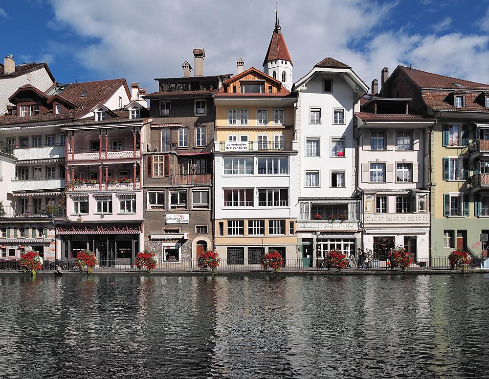 Innenstadt /Thun /Fluß Aare