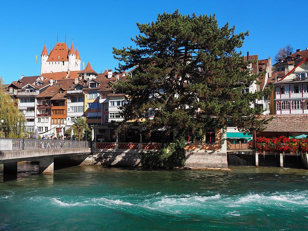 Innenstadt /Thun / Schweiz /Fluß Aare
