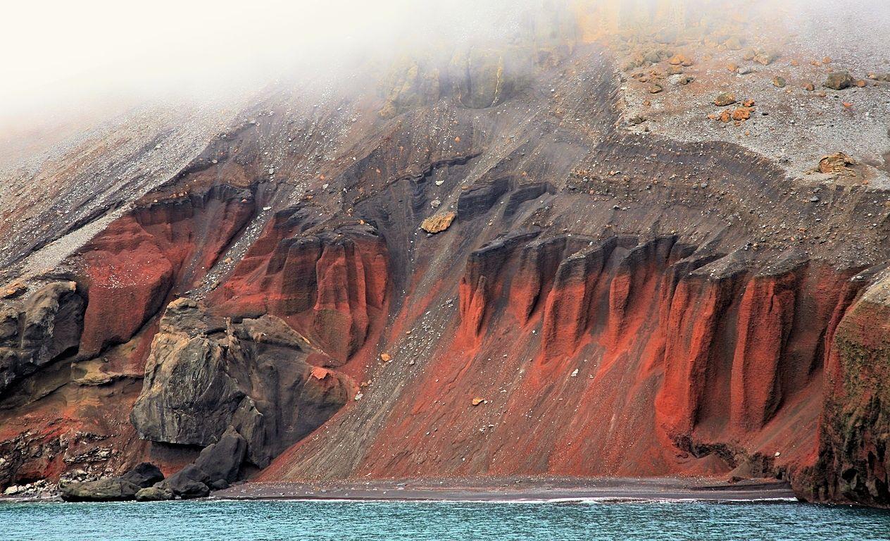 Innenwand der Kaldera