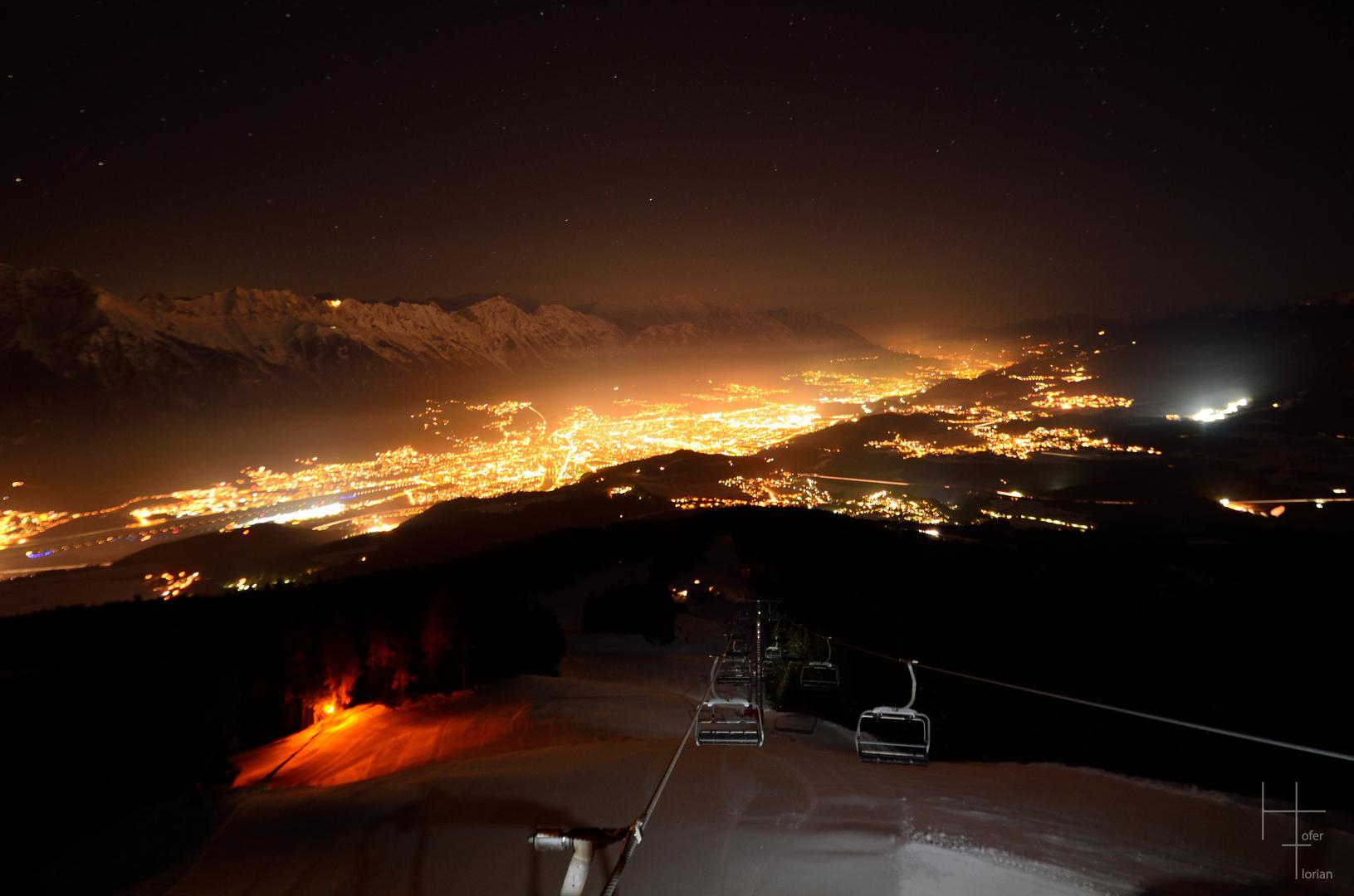 Innsbruck bei Nacht 1