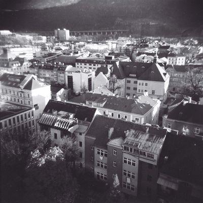 Innsbruck vom Hilton aus gesehen