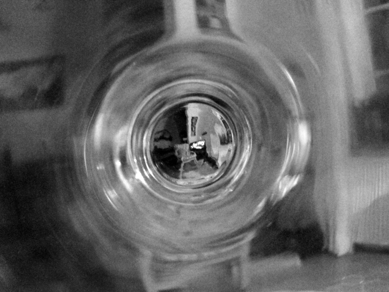 Ins Glas geschaut