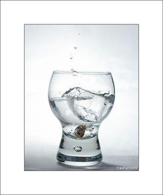 ins Wasser gefallen