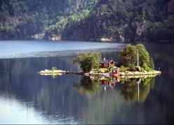 Insel im Fjord