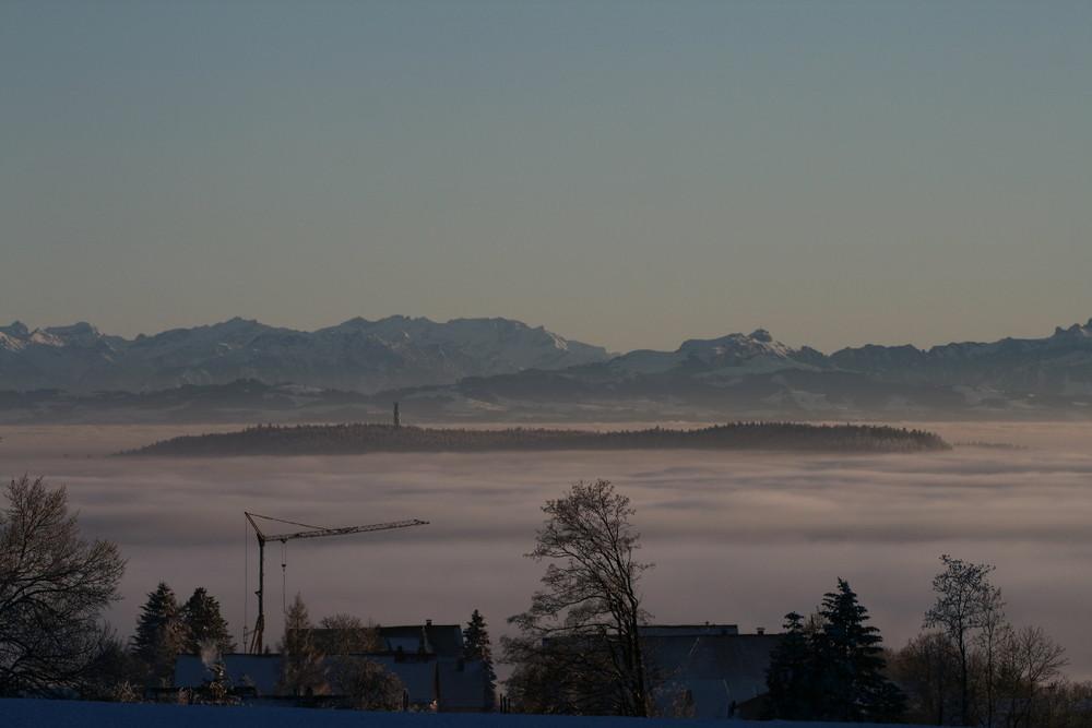 Insel im Nebelmeer.