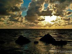 Insel Neuwerk am Abend