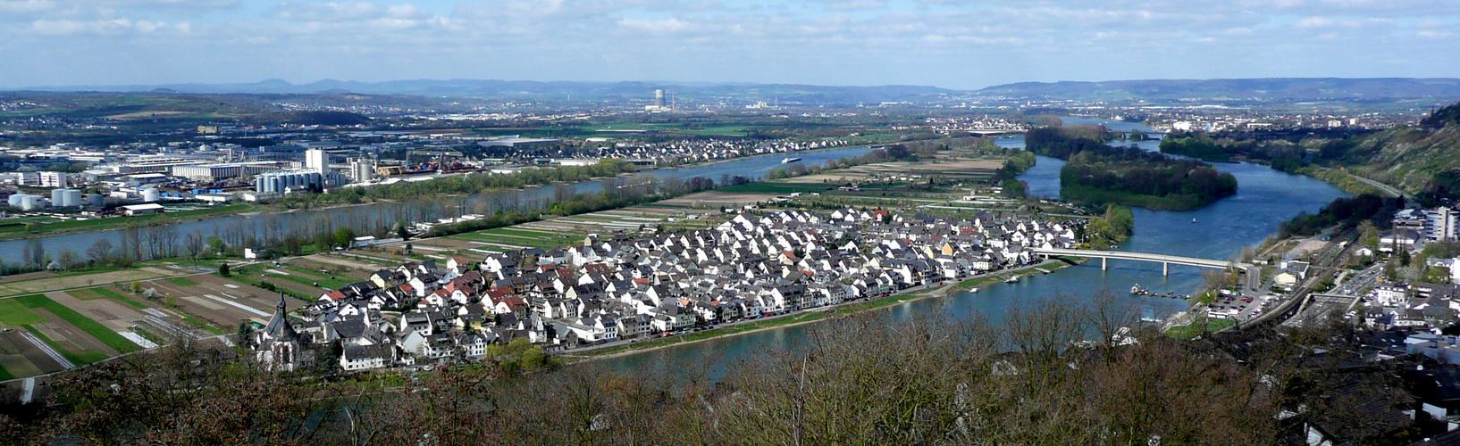 Insel Niederwerth im Rhein