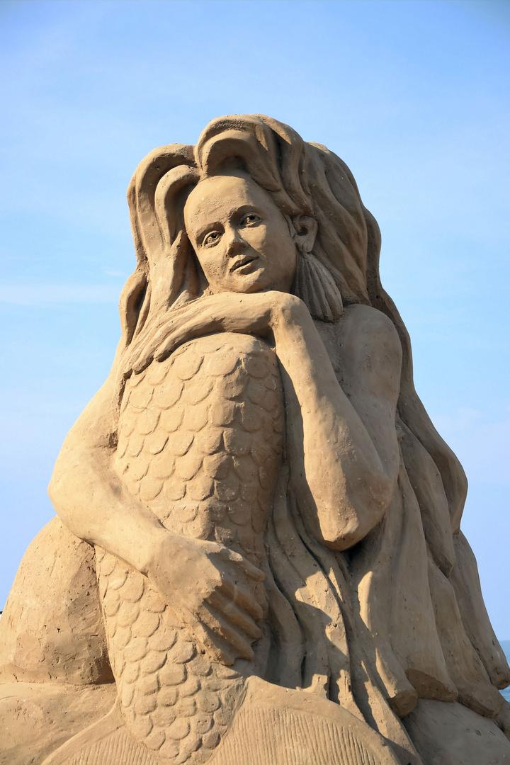 Insel Rügen - Sandskulptur in Binz